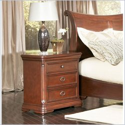 Largo Furniture Marseille Nightstand in Black and Cherry