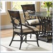 ADD TO YOUR SET: Largo Furniture Turks Isle Side Chair in Black and Brown Cane