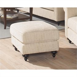Largo Furniture Brooke Ottoman in Camel
