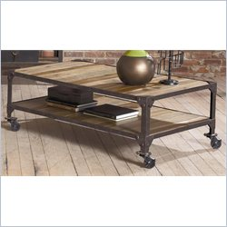 Largo Furniture Industrial Age Rectangular Cocktail Table in Gun Metal