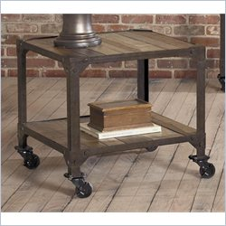 Largo Furniture Industrial Age Square End Table in Gun Metal