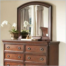Largo Furniture Marseille Mirror in Black and Cherry