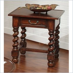 Largo Furniture Normandy Rectangular End Table in Antique Oak