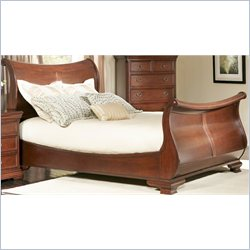 Largo Furniture Marseille Sleigh Bed in Black and Cherry - Queen