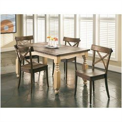 Largo Furniture Coronado 5 Piece Dining Set in Chocolate