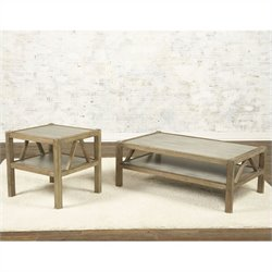 Largo Furniture Ketley 2 Piece Coffee Table Set in Aluminium