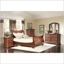 Largo Furniture Marseille 5 Piece Bedroom Set in Cherry