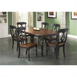 Largo Furniture Phillip 7 Piece Dining Table in Black and Cherry