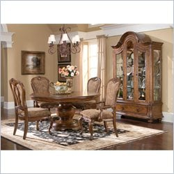 Largo Furniture Traviata 6 Piece Dining Set with China Curio in Umbria