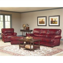 Largo Furniture Woodland 3 Piece Sofa Set in Brick