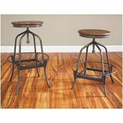 Largo Furniture Abbey Adjustable Swivel Stool in Weathered Brown - 22.7