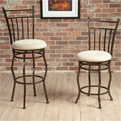Largo Furniture Eliza Swivel Stool in Bronze Metal