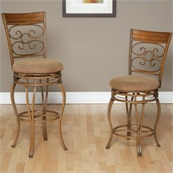Largo Furniture Ellen Swivel Stool in Light Bronze and Medium Oak