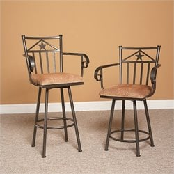 Largo Furniture Lancaster Swivel Stool in Bronze