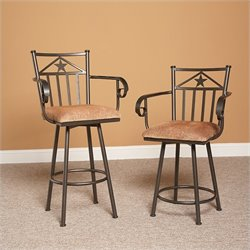 Largo Furniture Lancaster Swivel Stool in Bronze - 24