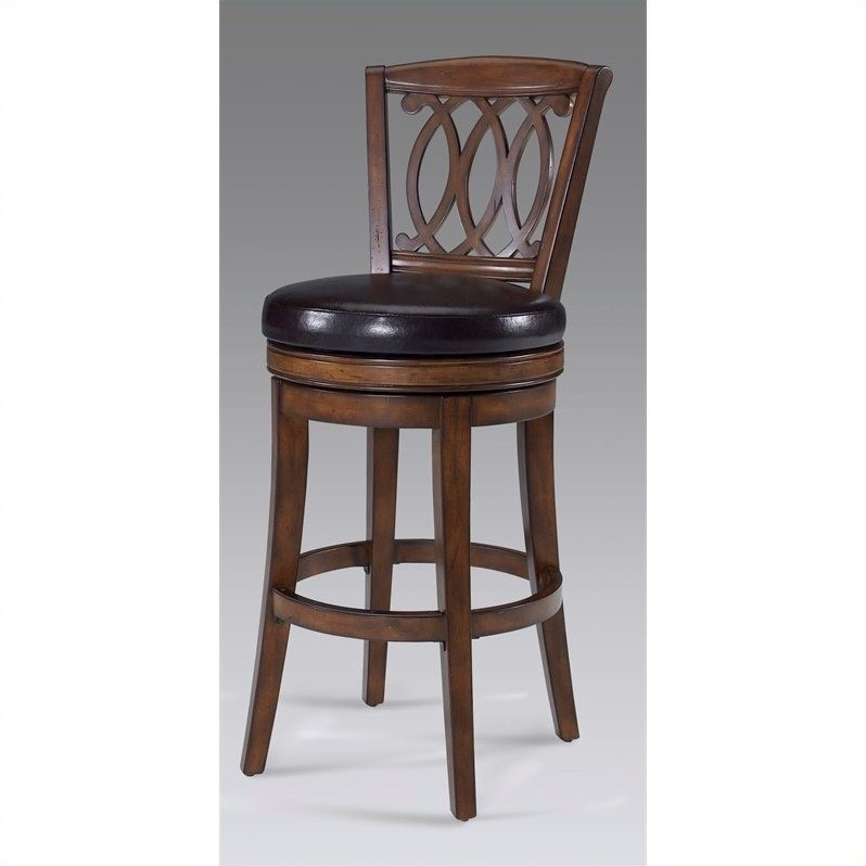 Paris Swivel Stool in Light Walnut