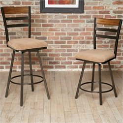 Largo Furniture Tempo Swivel Stool in Bronze and Medium Oak - 24