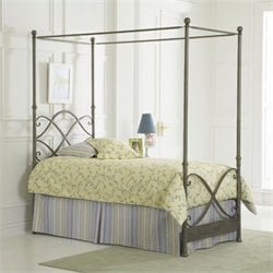 Largo Furniture Cutlass Canopy Bed in German Silver - Twin