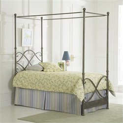 Largo Furniture Cutlass Canopy Bed in German Silver