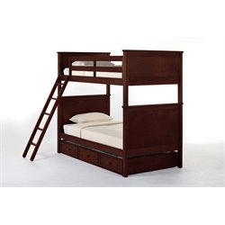 NE Kids School House Casey Panel Bunk Bed with Trundle-MER-1211-124