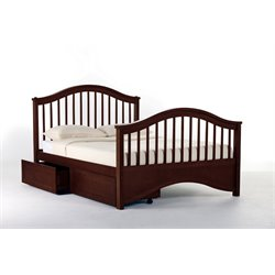 NE Kids School House Jordan Storage Slat Bed in Cherry-MER-1211-18