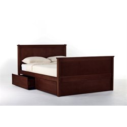 NE Kids School House Casey Storage Panel Bed in Cherry-MER-1211-21