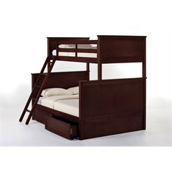 NE Kids School House Casey Storage Panel Bunk Bed-MER-1211-128