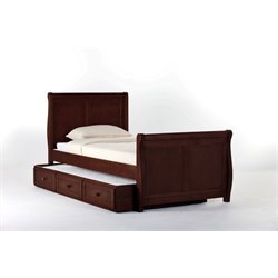 NE Kids School House Sleigh Bed with Trundle in Cherry-MER-1211-33