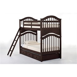 NE Kids School House Jordan Slat Bunk Bed with Trundle-MER-1211-84