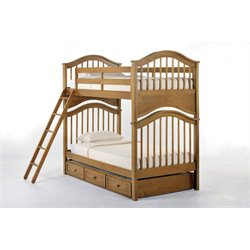 NE Kids School House Jordan Slat Bunk Bed with Trundle-MER-1211-85