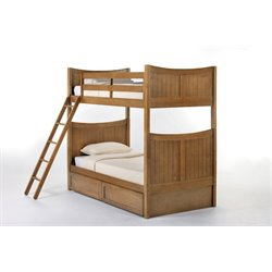 NE Kids School House Taylor Storage Bunk Bed in Pecan-MER-1211-82