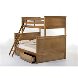 NE Kids School House Casey Storage Panel Bunk Bed-MER-1211-130