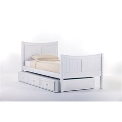 NE Kids School House Taylor Bed with Trundle in White-MER-1211-32