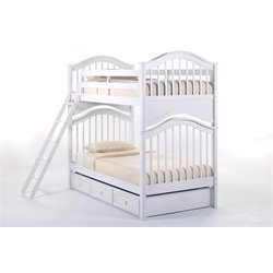 NE Kids School House Jordan Slat Bunk Bed with Trundle-MER-1211-86