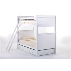 NE Kids School House Casey Panel Bunk Bed with Trundle-MER-1211-127