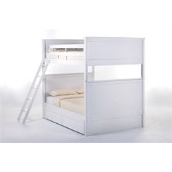 NE Kids School House Casey Storage Panel Bunk Bed-MER-1211-131