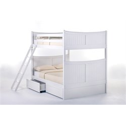 NE Kids School House Taylor Storage Bunk Bed in White-MER-1211-83
