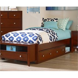 NE Kids Pulse Storage Platform Bed in Cherry-MER-1211-63