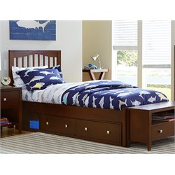 NE Kids Pulse Storage Slat Bed in Cherry-MER-1211-64