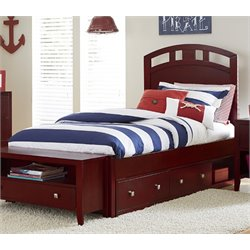 NE Kids Pulse Storage Bed in Cherry-MER-1211-65