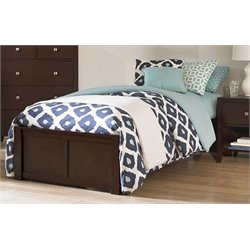 NE Kids Pulse Platform Bed in Chocolate-MER-1211-98