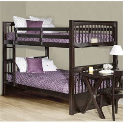 NE Kids Pulse Slat Bunk Bed in Chocolate-MER-1211-102