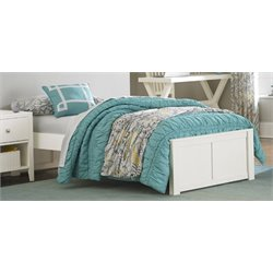 NE Kids Pulse Platform Bed in White-MER-1211-103