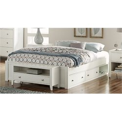 NE Kids Pulse Storage Platform Bed in White-MER-1211-69