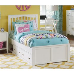 NE Kids Pulse Storage Slat Bed in White-MER-1211-70