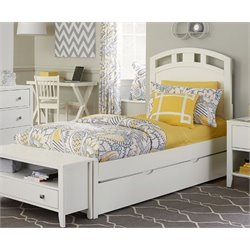 NE Kids Pulse Bed with Trundle in White-MER-1211-48