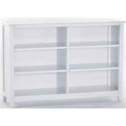 NE Kids School House Horizontal Bookcase in White