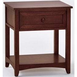 NE Kids School House 1 Drawer Nightstand in Cherry