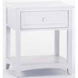 NE Kids School House 1 Drawer Nightstand in White