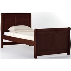 NE Kids School House Twin Sleigh Bed in Cherry